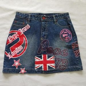 Pepe Jeans London England Skirt Size Tag Missing